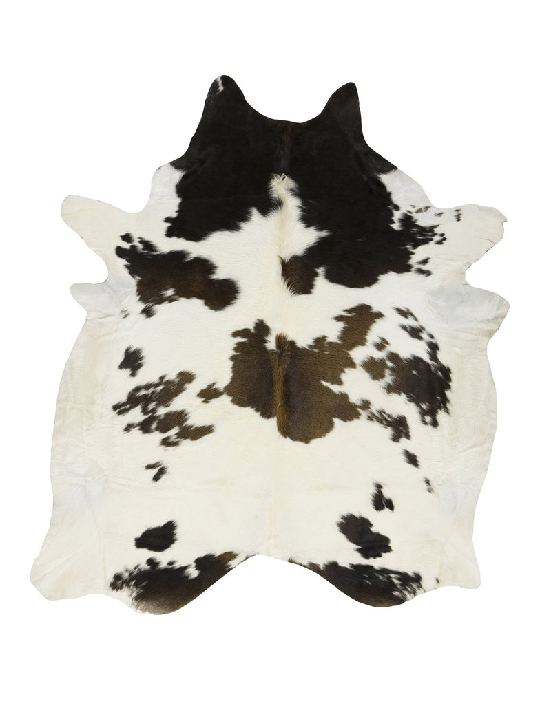 Large Black & White reddish Cowhide Rug