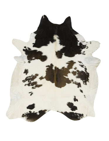 Black and White Reddish Cowhide Rug - Large