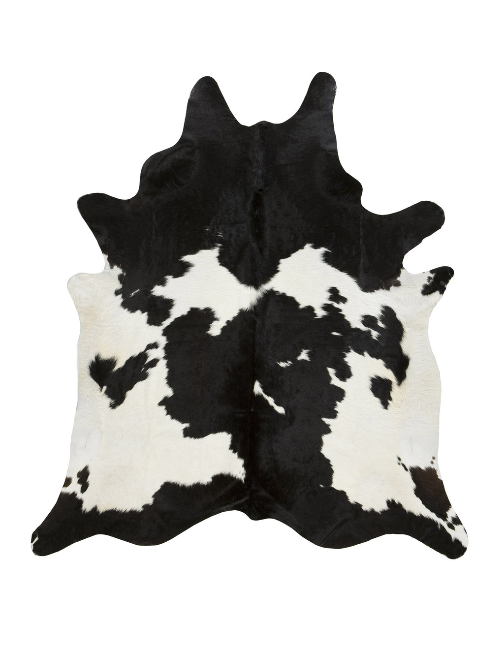 XL Black & White Cowhide Rug
