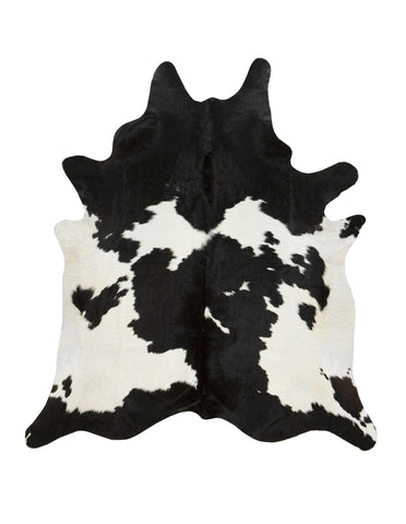 Black and White Cowhide Rug - Large