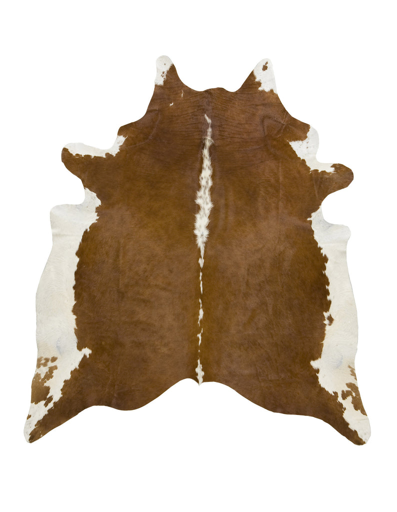 Large Hereford brown cowhide rug
