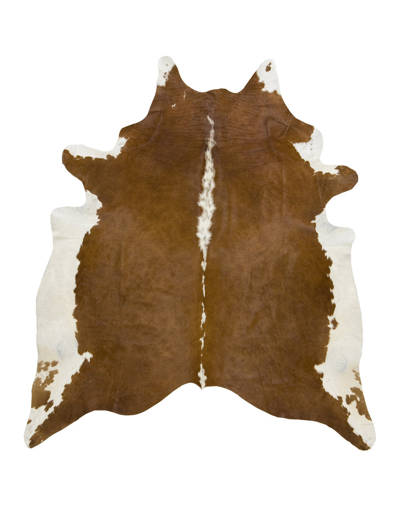 XLarge Hereford brown cowhide rug