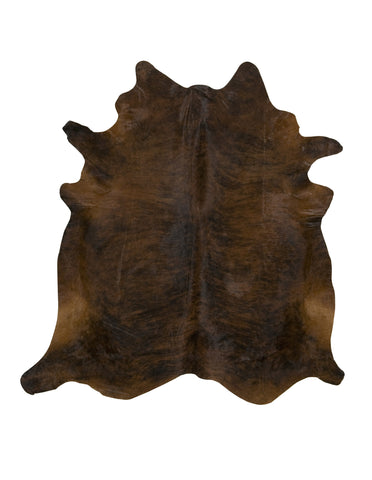 Dark Red Brindle Cowhide Rug - L