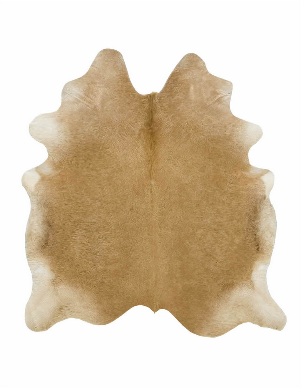 Large solid dark palomino cowhide rug