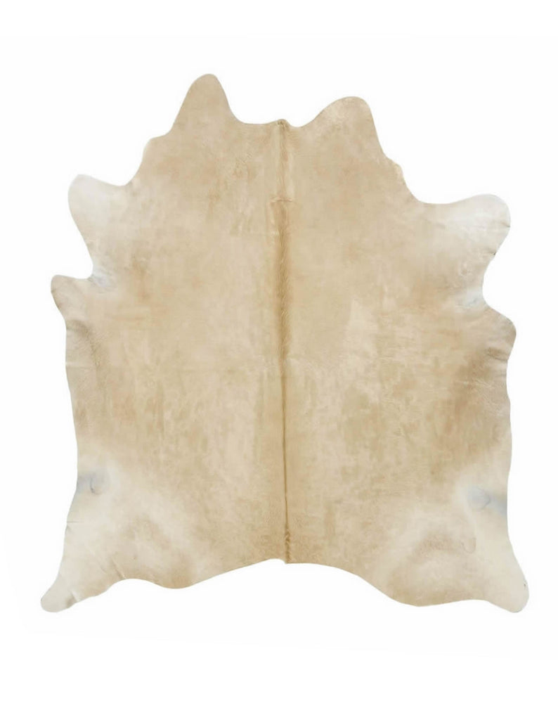 Large solid light palomino cowhide rug