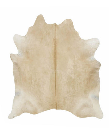Solid Light Palomino Cowhide Rug - L
