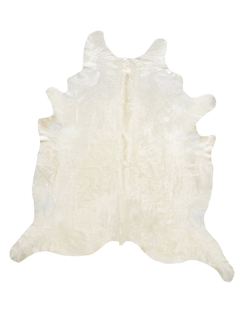 Large Natural Off White cowhide rug