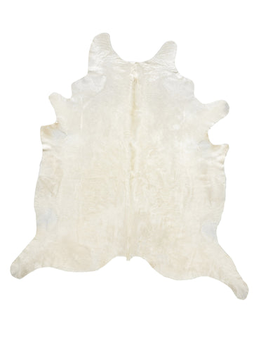 Natural Off White Cowhide Rug - L
