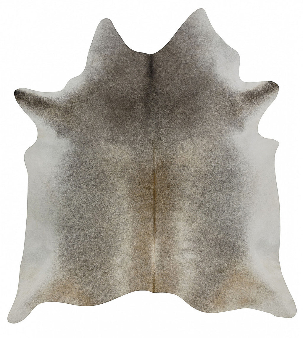 Dark Gray Beige Solid cowhide large