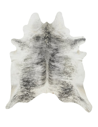 Gray Brindle Cowhide Rug - L
