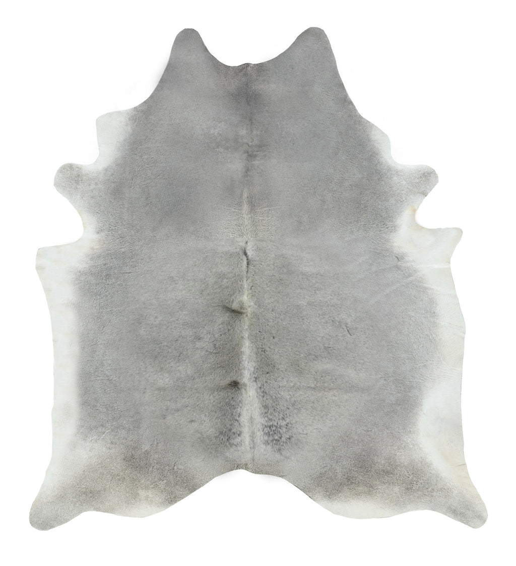 Gray solid cowhide rug XL