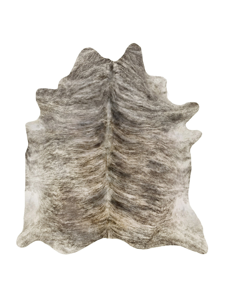 Gray Tan Brindle cowhide rug XL