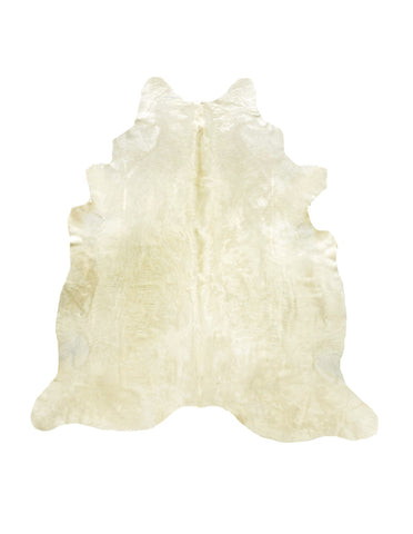 Light Gold Cowhide Rug - L