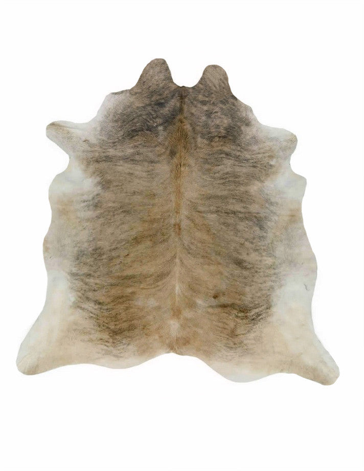Light Tan Brindle Cowhide Rug large