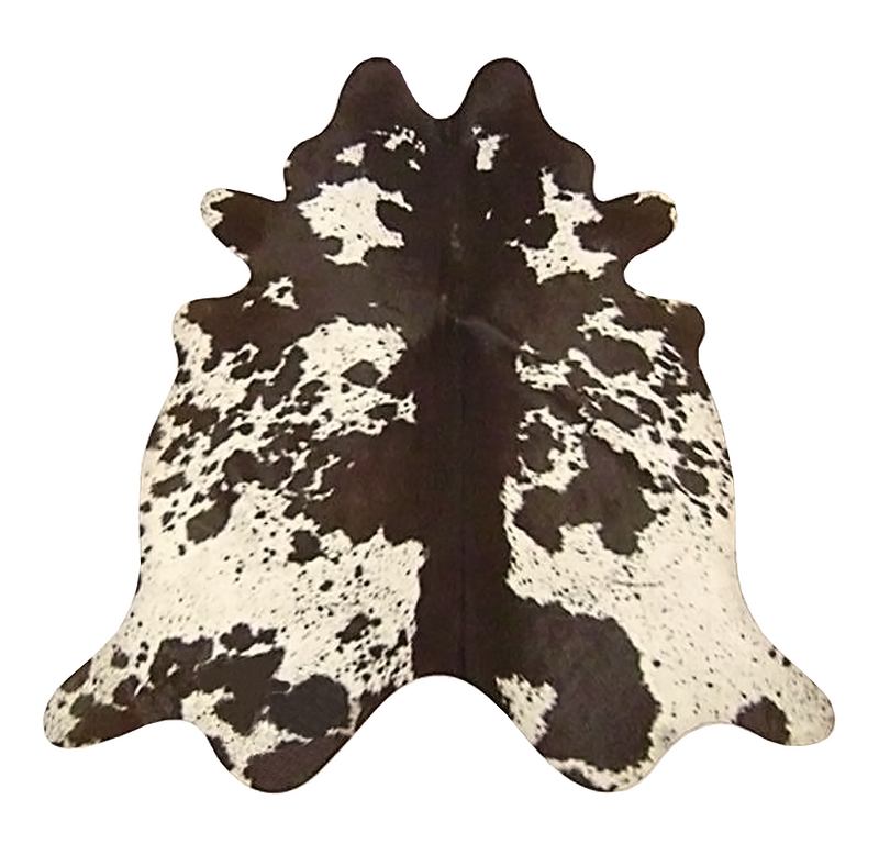 Large Longhorn Chocolate cowhide rug