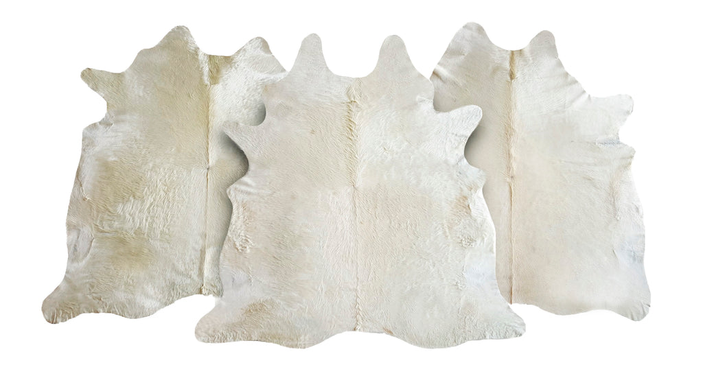 natural off white cowhide rug xl