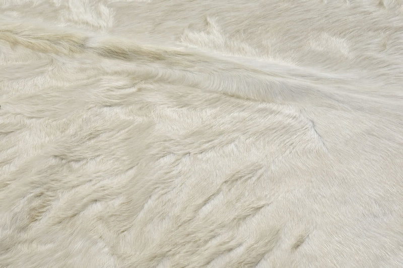 Natural Off White cowhide close up