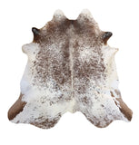 Salt and Pepper Brown Cowhide Rug large