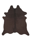 Dark Chocolate Dyed Cowhide Rug Large