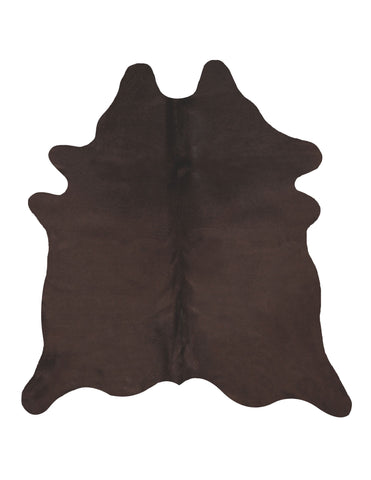 Solid Dark Chocolate Cowhide Rug - L