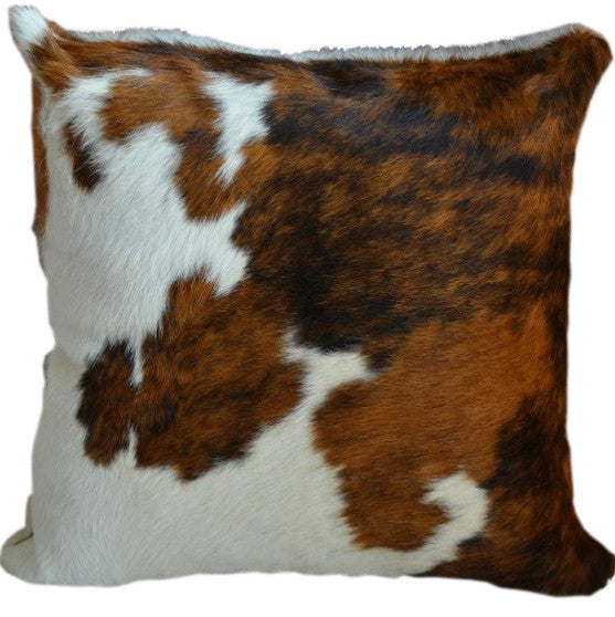 Tricolor Cowhide Pillow - Double Sided