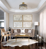 Natural off white cowhide living room