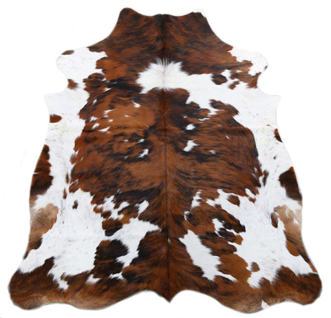 Tri Color Spotted Cowhide Rug - L