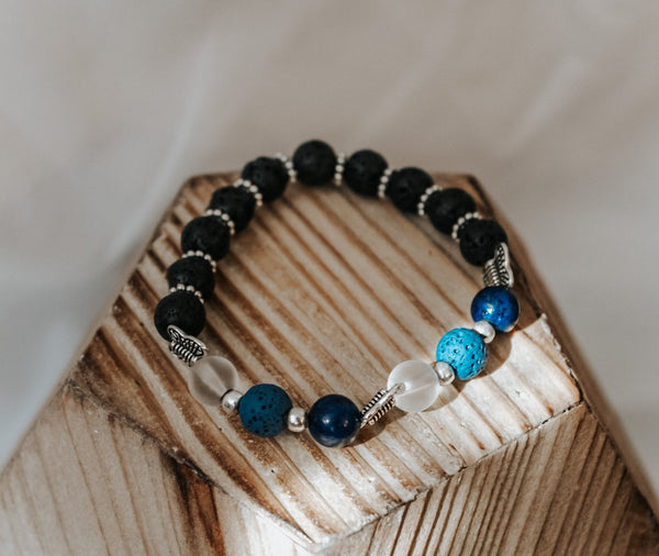 Blue Beaded Bracelet - Lucie & Willow Boutique