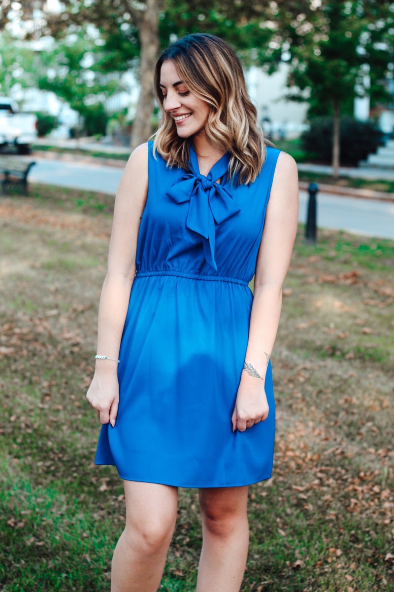 Front Tie Dress - Lucie & Willow Boutique