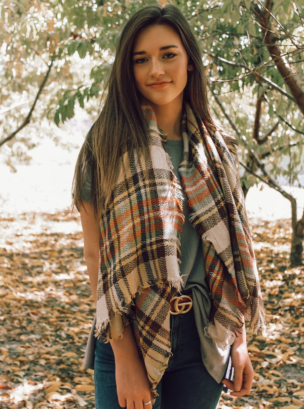 Fall Colors Blanket Scarf - Lucie & Willow Boutique