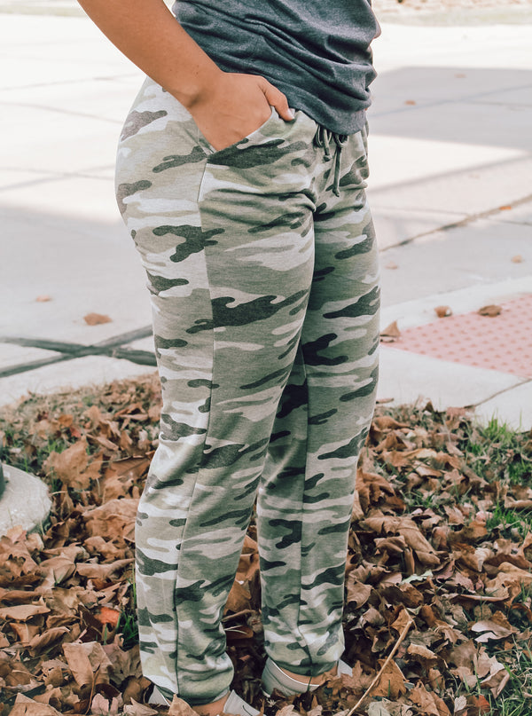 Army Print Joggers