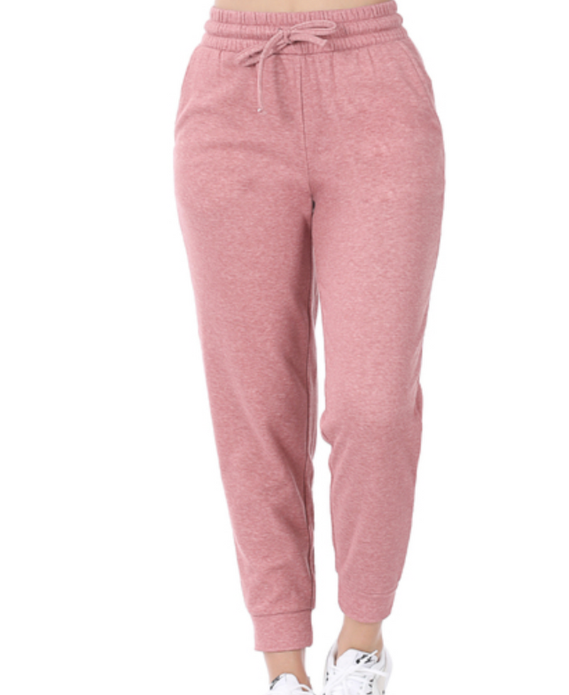 Light Rose Melange Joggers