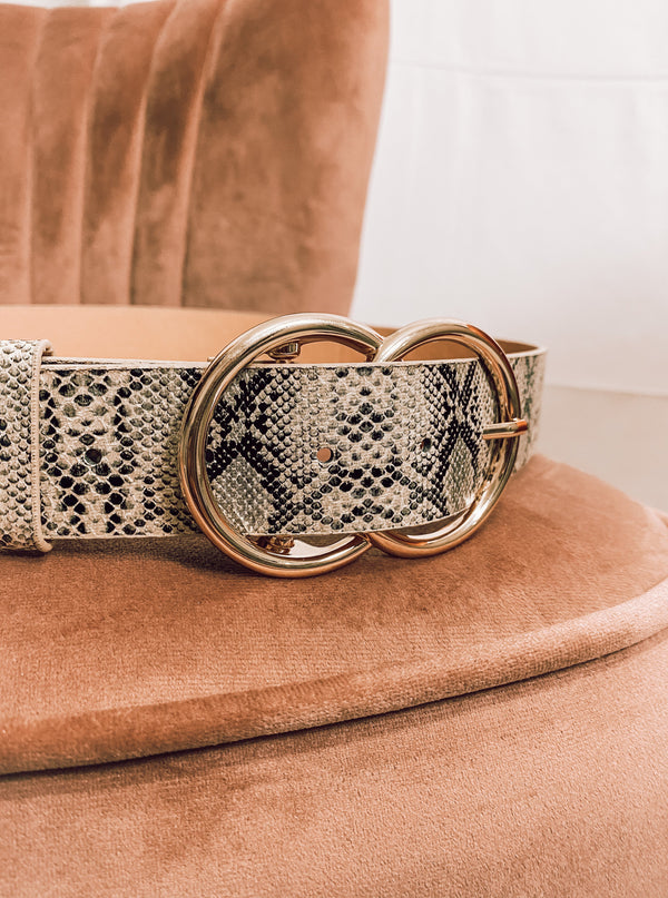 Snakeskin Belt - Lucie & Willow Boutique