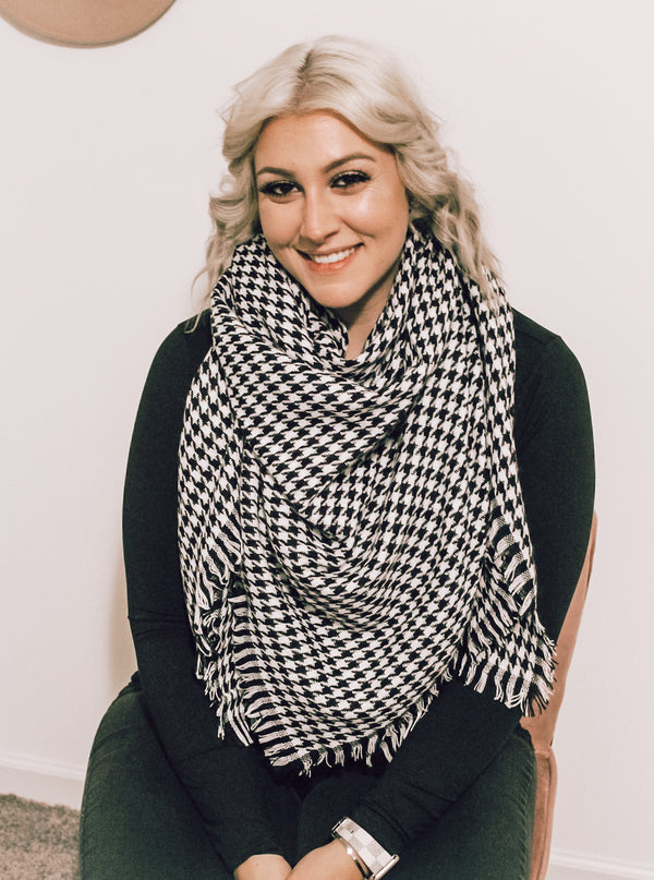 Checkered Blanket Scarf
