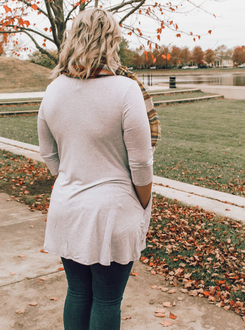 Light Gray Tunic (Plus Size)