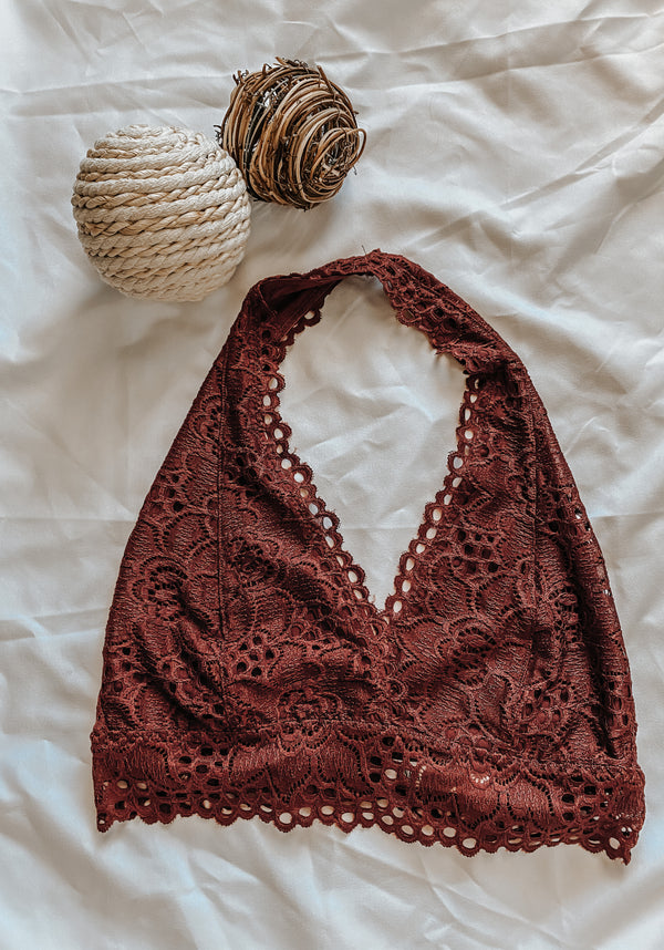 Fired Brick Lace Bralette