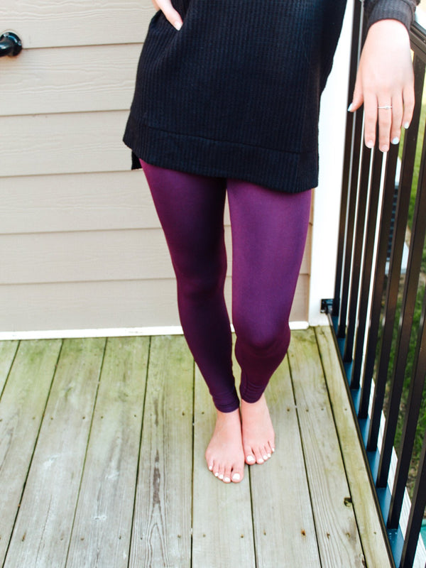 Plum Seamless Leggings