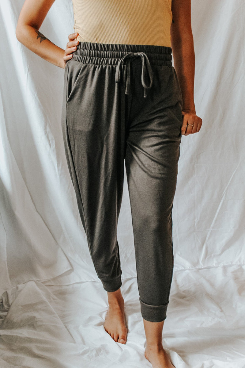 French Terry Joggers - Lucie & Willow Boutique