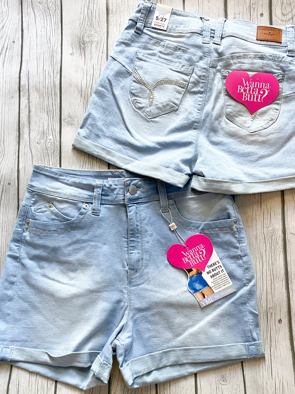 High Rise Jean Shorts - Lucie & Willow Boutique