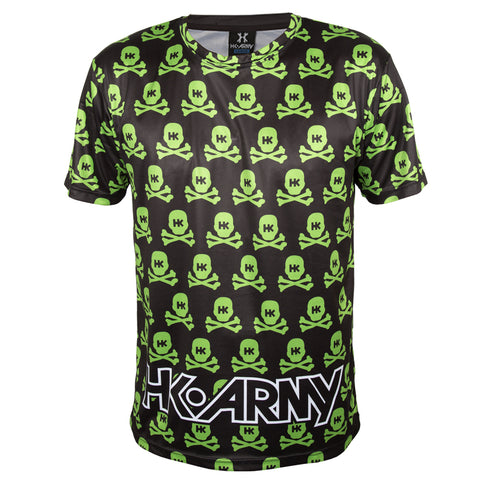All Over Neon Green Skulls - DryFit