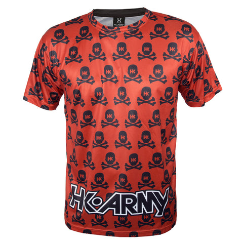 All Over Red Skulls - DryFit