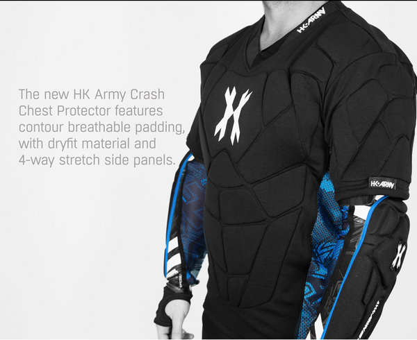 HK Army Paintball Airsoft Crash Chest Protector XS SM **Free Shipping**