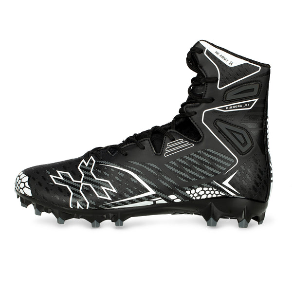 Diggerz_X 1.5 Hightop Cleats - Black/Grey