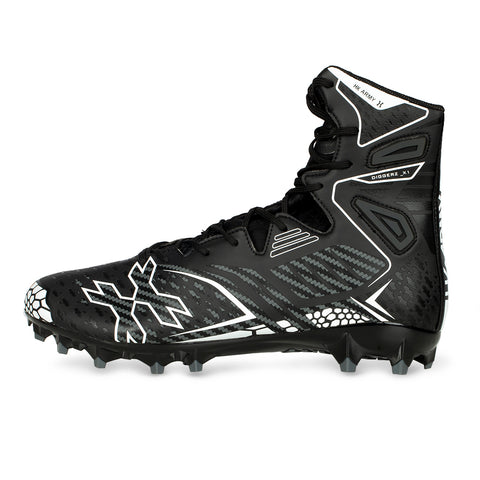 Diggerz_X1 Hightop Cleats - Black/Grey