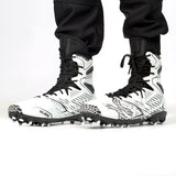 Diggerz_X1 Hightop Cleats - White/Black