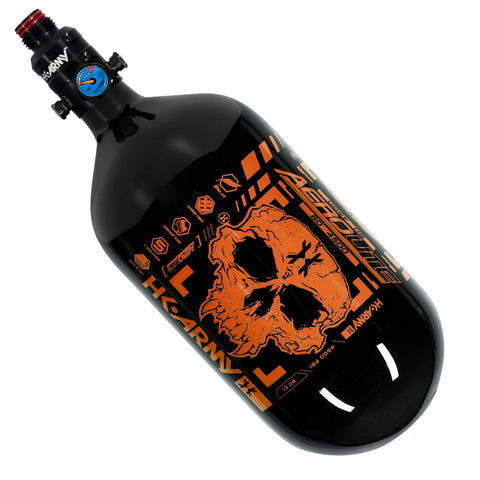 "Doom - ""EXTRA LITE"" Tank w/ V2 Pro Reg - 80ci / 4500psi  - Black/Neon Orange"