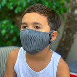 YOUTH - FLTRD Air - Grey - Carbon Filtered Face Mask