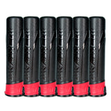 High Capacity 165 Round Pods - Black/Red - 6 Pack