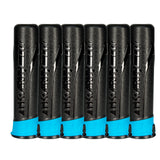 Push Button - High Capacity 165 Round Pods - Black/Turquoise - 6 Pack