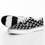 HK Skull Black Canvas Sneaker